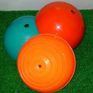 Actitud Retro (Deportes Y Fitness):        Conos Media Bocha Mini Bosu Inflables Goma 15 Cm