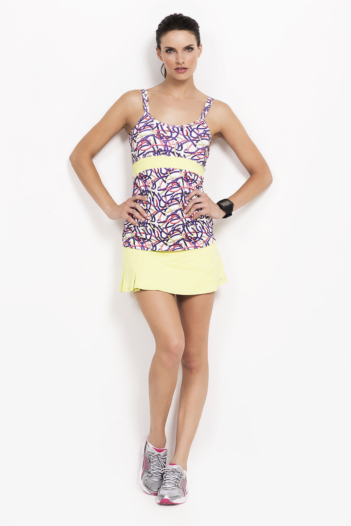 Admit One (Deportes Y Fitness):        Musculosa Pol Est Isabelle   Pollera Con Short Mfl Cameron