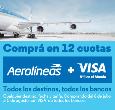 Aerolíneas Argentinas (Viajes Y Turismo):        Visa En 12 Cuotas