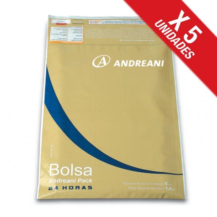 Andreani Sucursal Online (Art. De Librería / Oficina):        Bolsa Pack 24hs