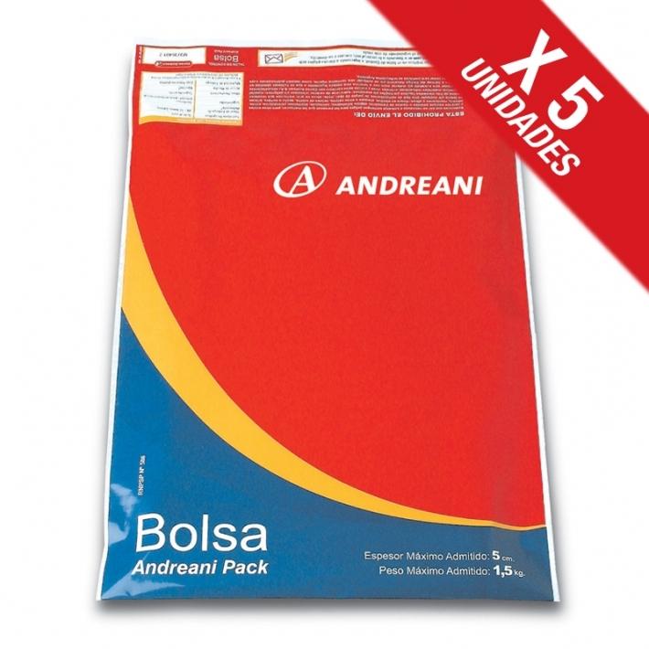 Andreani Sucursal Online (Art. De Librería / Oficina):        Bolsa Pack 48hs