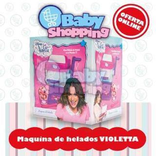 Baby Shopping (Bebés Y Chicos):        Violetta Maquina De Helados De Verdad Licencia Disney Oferta