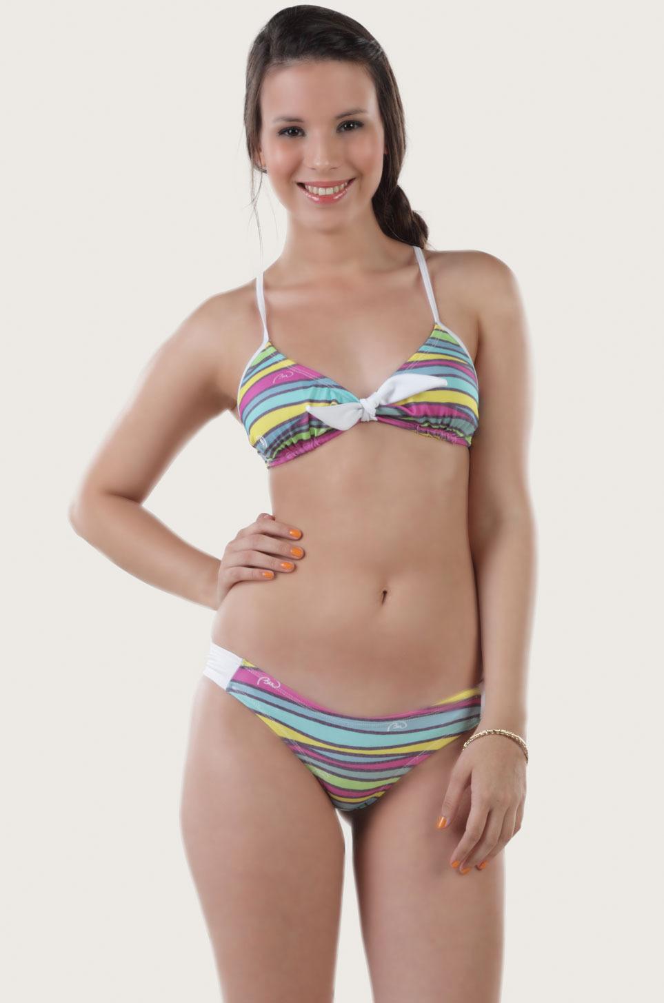 Baki Wanita (Bikinis Y Trajes De Baño):        Bandeau Rainbow