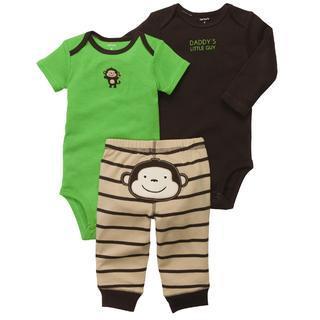 Barrilete De Colores (Bebés Y Chicos):        Conjunto Carter's De 3 Piezas Con Pantalón