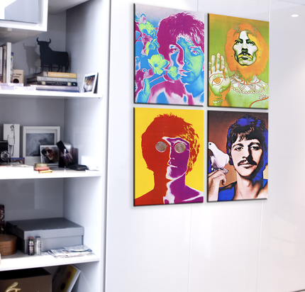 Bixti (Regalos Y Objetos De Diseño):        Cuadros   Beatles Avedon     4 Partes De 40x60 C/U