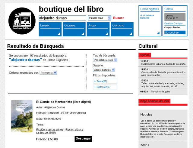 Boutique Del Libro (Libros Y Revistas):        01 Buscar Boutique
