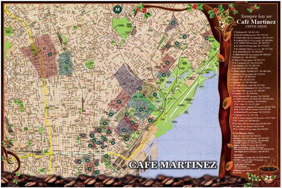 Café Martinez Online (Vinos Y Bebidas):        Mapa De Zonas De Delivery
