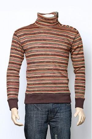 Camisetas Imports (Indumentaria):        Buzo Casual Premium Con Cuello Tortuga A Rayas