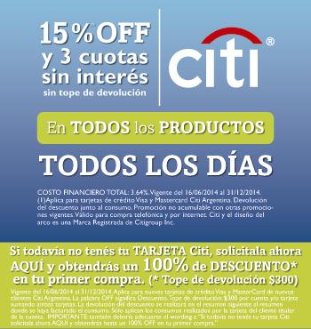 Catycan (Mascotas):        Tarjetas Citibank 15% Off Y 3 Cuotas!!