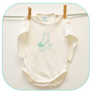 Cottompom (Bebés Y Chicos):        Body Jersey Manga Larga Osito