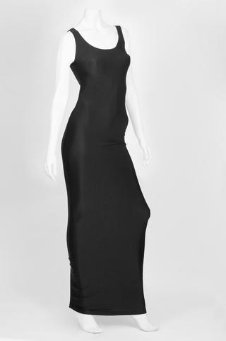 Cruz Signature Apparel (Indumentaria):        Vestido Básico Largo Negro