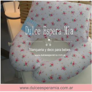 Dulce Espera Mia (Bebés Y Chicos):        Almohadones De Cuna Para Bebes En Tela Pique Con Puntilla