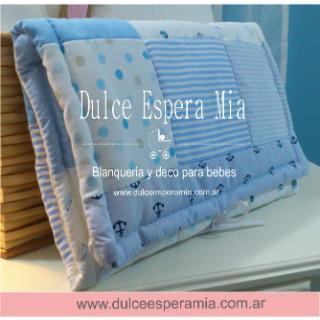 Dulce Espera Mia (Bebés Y Chicos):        Cambiadores En Tela Patchwork