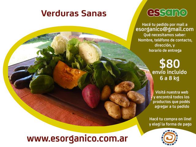Es Orgánico (Comidas Y Alimentos):        Bolsón De Verduras Sanas