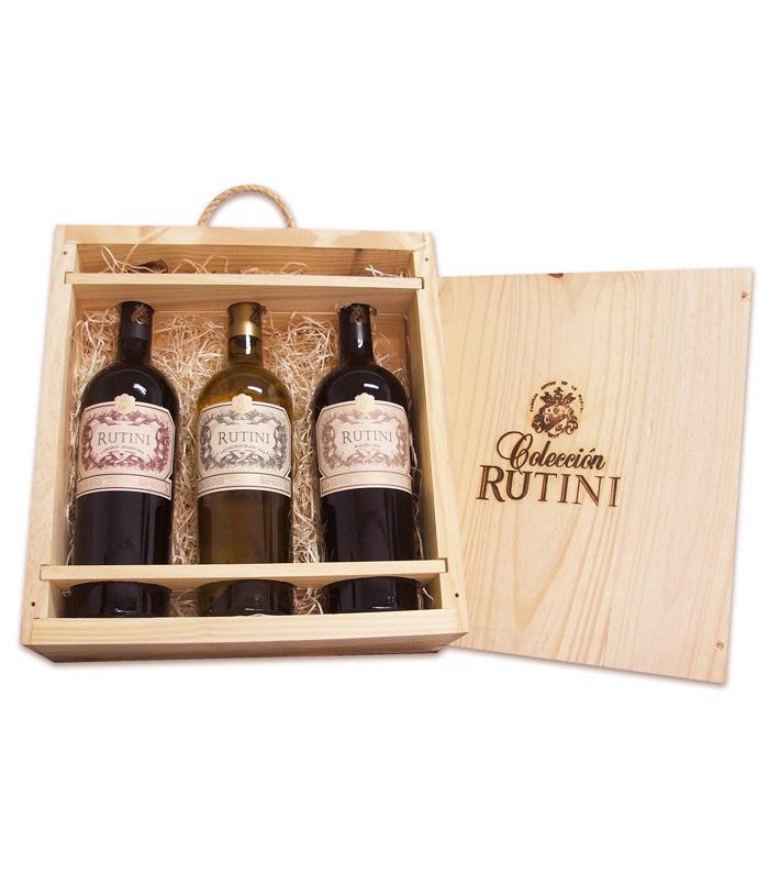 Espacio Vino (Vinos Y Bebidas):        Regalo Cofre Rutini Coleccion X3