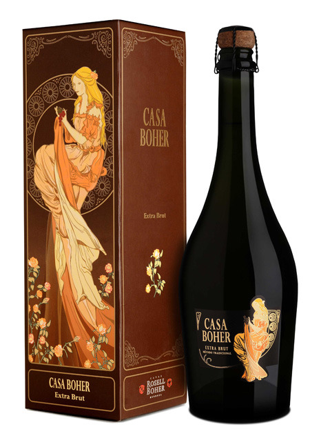 Espacio Vino (Vinos Y Bebidas):        Regalo Estuche Casa Boher Extra Brut