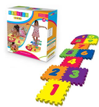 Eva Magic (Bebés Y Chicos):        Set Piso Goma Eva, Diseño Rayuela Grande