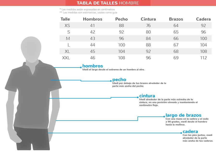 Fraternity – Remeras (Remeras):        Tabla De Talles