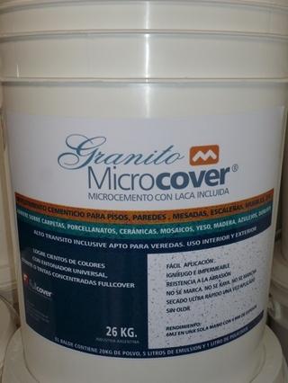 Fullcover Argentina (Construcción):        Microcover Granito X 10 Kg Con Laca Incluida