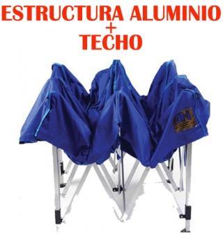 Fundas Moto (Repuestos Y Accesorios Para Autos Y Motos):        Carpa Plegable O Gazebo 3 H   Estructura De Aluminio + Techo