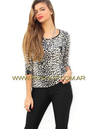Ho Shop (Ex Holguins Outfit) (Indumentaria):        Remera Animal Print