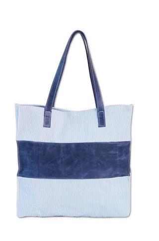 Jamsa Handbags (Carteras Y Bolsos):        Bolso Panamá Rayas Y Azul