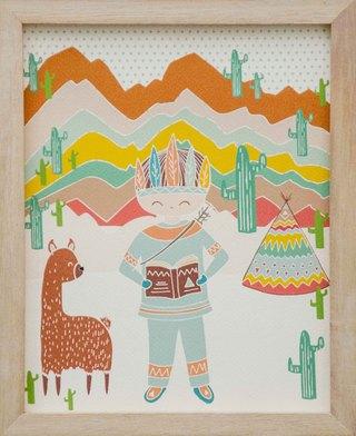 Kirbaa (Arte):        Indio Y Llama