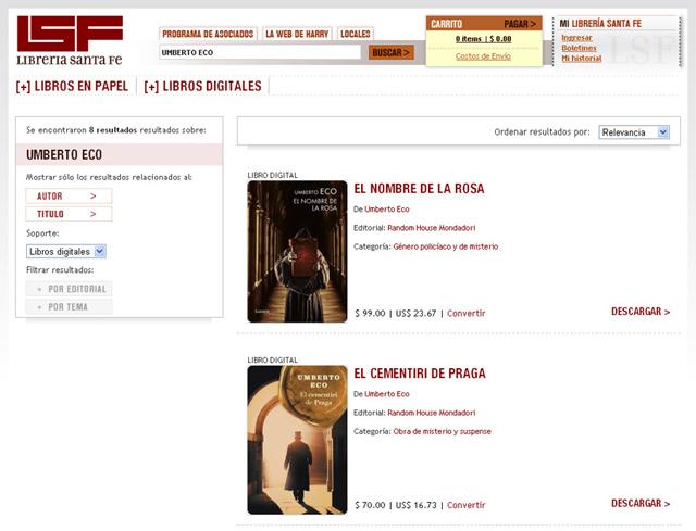 Librería Santa Fé Lsf (Libros Y Revistas):        01 Buscar Lsf