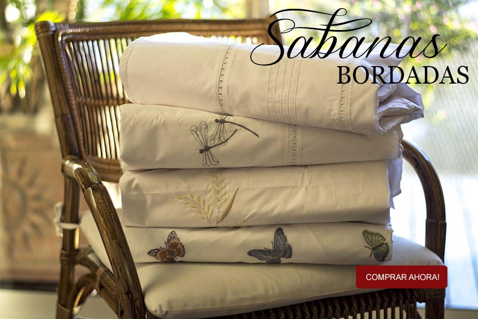 Linares Maison (Decoración, Bazar & Hogar):        Sabanas Bordadas New