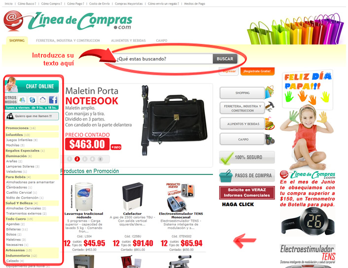 Linea De Compras (Construcción):        Linea De Compras
