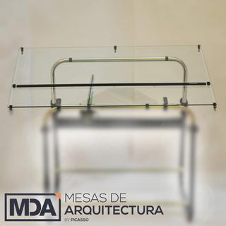 Mesas De Arquitectura (Art. De Librería / Oficina):        Kit Vidrio (Tablero+Regla+Tomahilos)