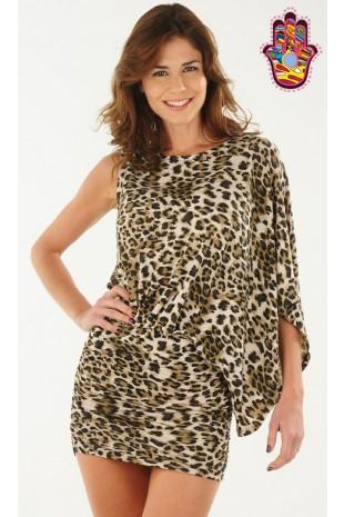 Moda Catálogo (Mayorista) (Mayoristas):        Vestido De Modal Estampa Animal Print