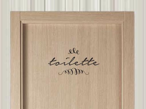 Mutta! Vinilos Decorativos (Decoración, Bazar & Hogar):        Vinilo Toilette!
