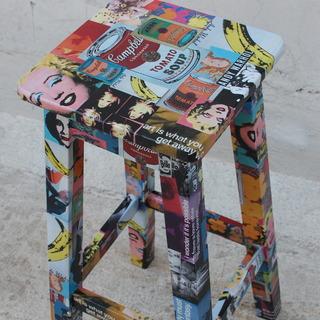 Objetos Con Arte (Arte):        Banqueta 75cm Warhol