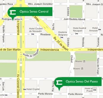 Optica Senso (Anteojos):        Mapa