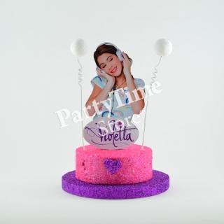 Party Time Store (Fiestas Y Cotillón):        Violetta Adorno Para Tortas