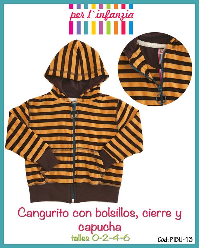 Per L'infanzia (Bebés Y Chicos):        Cangurito Con Capucha Forrada Y Bolsillo   Pibu13