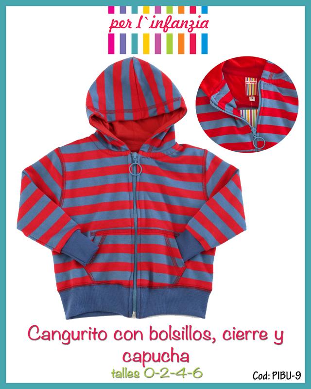 Per L'infanzia (Bebés Y Chicos):        Cangurito Con Capucha Forrada Y Bolsillo   Pibu9