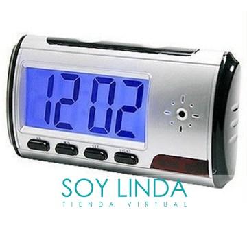 Soy Linda (Belleza Y Cuidado Personal):        Reloj Despertador Espia Mini Camara Oculta 32gb