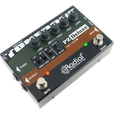 Stageback (Instrumentos Musicales):        Preamp + Di Para Guitarra Acustica Radial Tonebone Pz Deluxe