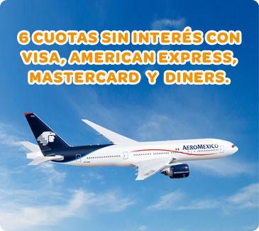 Submarino Viajes (Viajes Y Turismo):        Avião Aeromexico