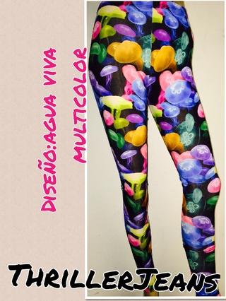 Thriller Jeans (Indumentaria):        Calza Agua Viva Multicolor