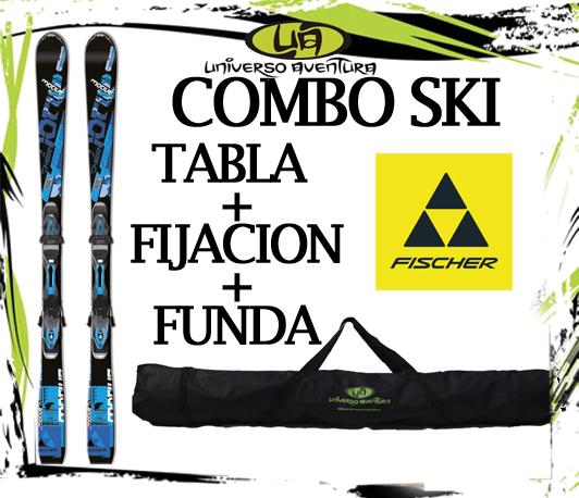 Universo Aventura (Deportes Y Fitness):        Tablas De Ski Fischer Motive 74 (Hombre) + Fijación + Funda [Ofe