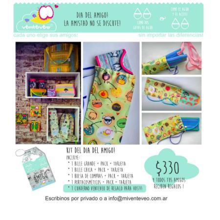 Venteveo Diseño (Carteras Y Bolsos):        Kit Dia Del Amigo