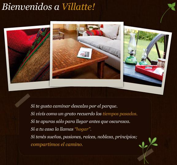 Villatte (Decoración, Bazar & Hogar):        Nosotros