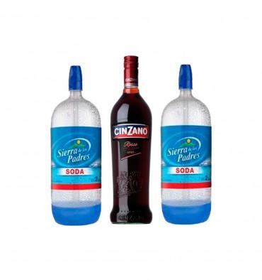 Vinoteca La Vía (Vinos Y Bebidas):        Cinzano Rosso 950cc + 2 Sifones