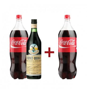 Vinoteca La Vía (Vinos Y Bebidas):        Fernet Branca + Coca Cola 2,5lt. + Coca Cola 2,5lt. (Regalo)