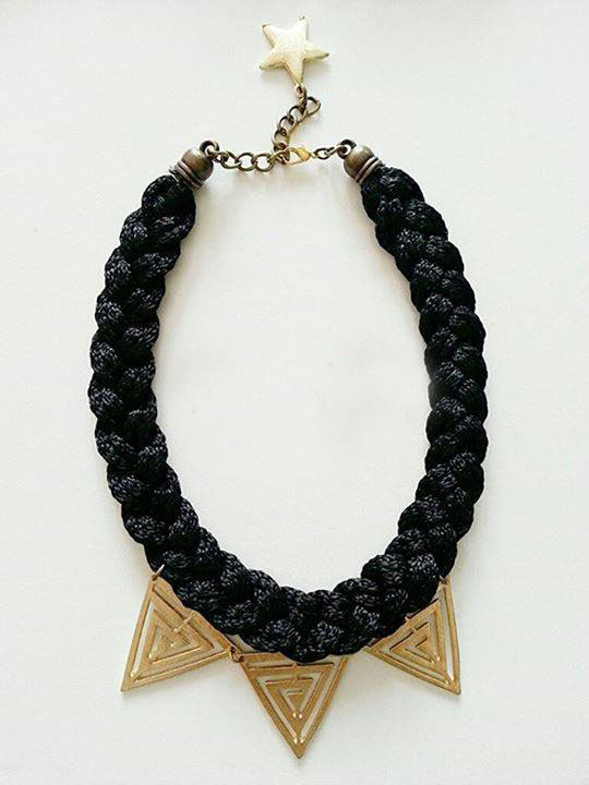 Vuppia Accesorios (Accesorios De Moda Y Bijou):        Collar De Soga Color Negro Y Dorado ( Varios Colores)