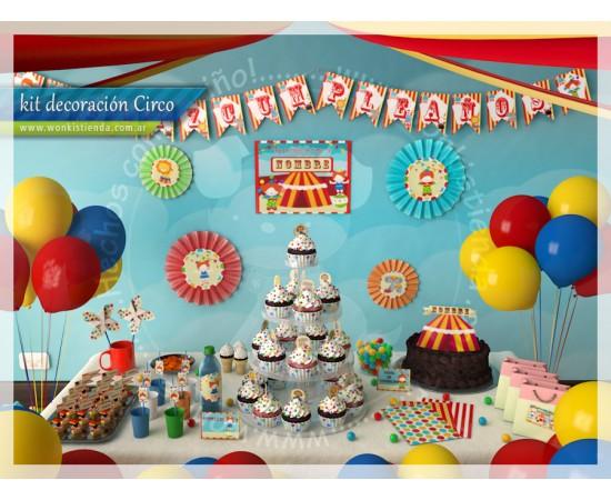 Wonkis! Objetos De Diseño (Fiestas Y Cotillón):        Circo    Kit Decoracion Fiesta Imprimible